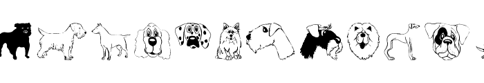 DogsFewCats Font UPPERCASE