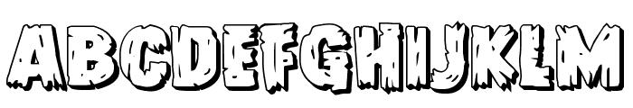 Dokter Monstro 3D Font UPPERCASE