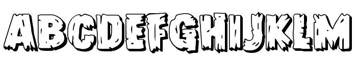 Dokter Monstro 3D Font LOWERCASE