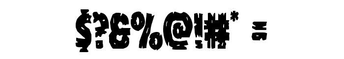 Dokter Monstro Condensed Font OTHER CHARS