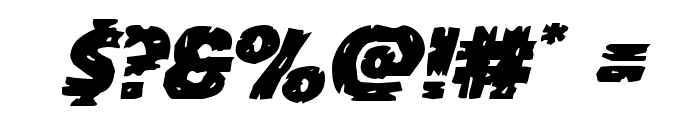 Dokter Monstro Expanded Italic Font OTHER CHARS