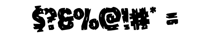 Dokter Monstro Rotated Font OTHER CHARS