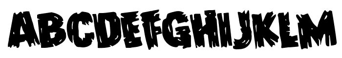 Dokter Monstro Rotated Font LOWERCASE