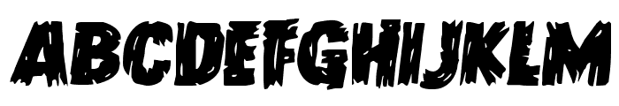Dokter Monstro Semi-Italic Font UPPERCASE