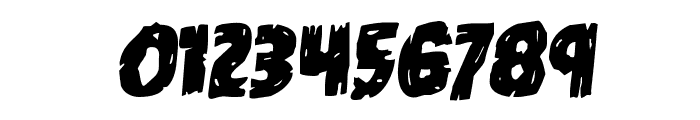 Dokter Monstro Staggered Rotalic Font OTHER CHARS