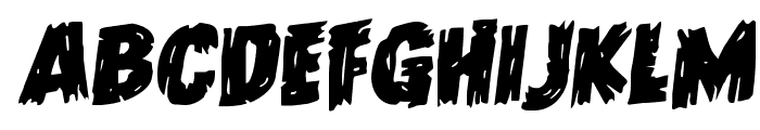 Dokter Monstro Staggered Rotalic Font UPPERCASE
