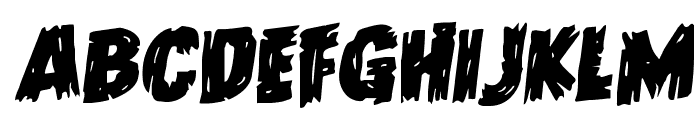 Dokter Monstro Staggered Rotalic Font LOWERCASE