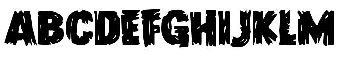Dokter Monstro Staggered Font UPPERCASE