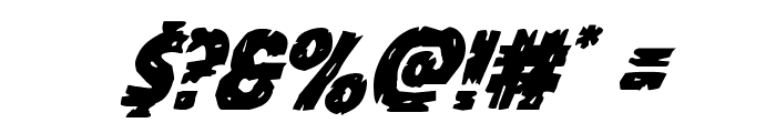 Dokter Monstro Super-Italic Font OTHER CHARS