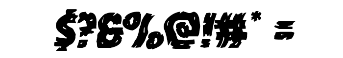 Dokter Monstro Warped Italic Font OTHER CHARS