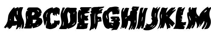 Dokter Monstro Warped Italic Font LOWERCASE