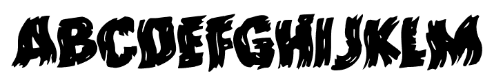 Dokter Monstro Warped Rotalic Font UPPERCASE