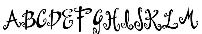 Dollhouse Font UPPERCASE