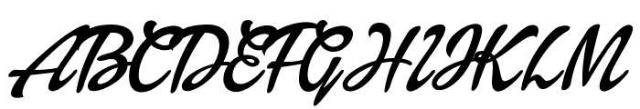 Dollie Script Personal Use Font UPPERCASE