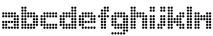 Dolly Dots Font LOWERCASE