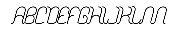 Dolphin OCEAN WAVE Font UPPERCASE
