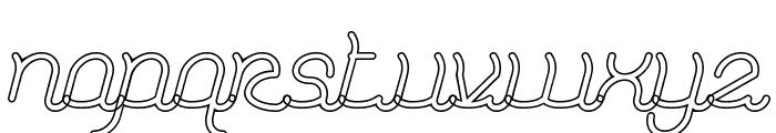 Dolphin Ocean Wave-Hollow Bold Font LOWERCASE