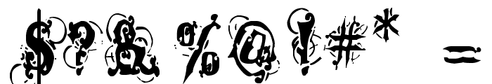 Dominatrix Font OTHER CHARS