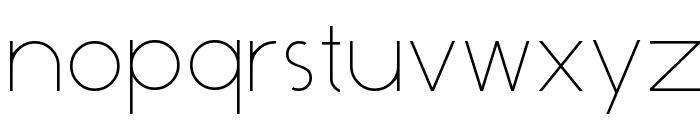 Dominik Thin Font LOWERCASE