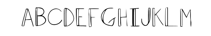 Dominique Regular Font UPPERCASE