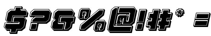 Domino Jack Bevel Italic Italic Font OTHER CHARS
