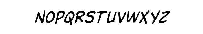 Domino Mask Condensed Italic Font UPPERCASE