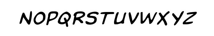 Domino Mask Italic Font UPPERCASE