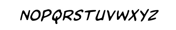 Domino Mask Italic Font LOWERCASE