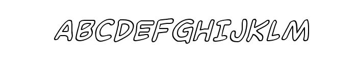 Domino Mask Outline Italic Font UPPERCASE