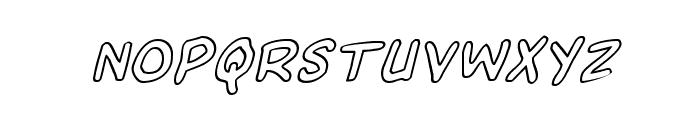 Domino Mask Outline Italic Font LOWERCASE