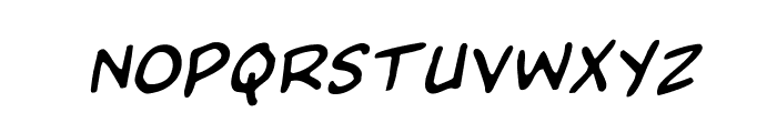 Domino Mask Rotalic Font LOWERCASE