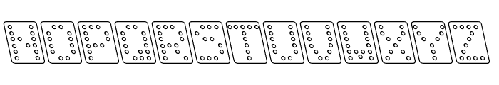 Domino bred kursiv omrids Font LOWERCASE