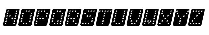 Domino bred kursiv Font UPPERCASE