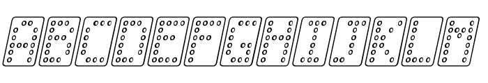 Domino normal kursiv omrids Font UPPERCASE