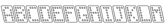 Domino normal kursiv omrids Font LOWERCASE