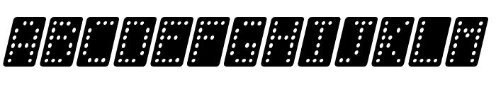 Domino normal kursiv Font UPPERCASE