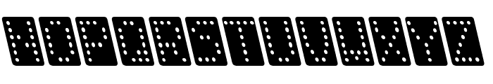 Domino normal kursiv Font LOWERCASE