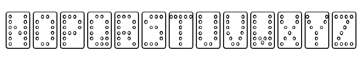 Domino normal Font UPPERCASE