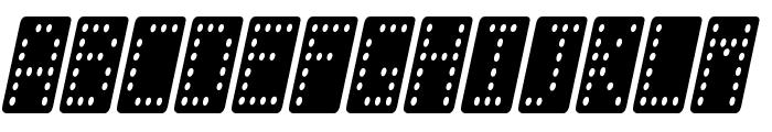 Domino smal kursiv Font UPPERCASE