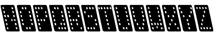 Domino smal kursiv Font LOWERCASE