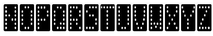 Domino smal Font LOWERCASE