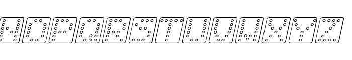 Domino square kursiv omrids Font UPPERCASE