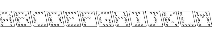Domino square kursiv omrids Font LOWERCASE