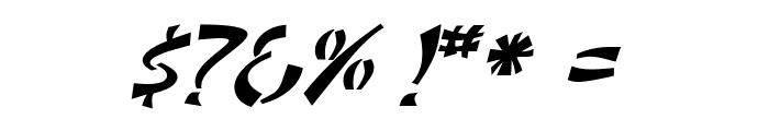 DomoAregato Italic Font OTHER CHARS