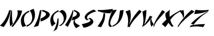 DomoAregato Italic Font UPPERCASE