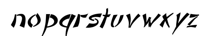 DomoAregato Italic Font LOWERCASE