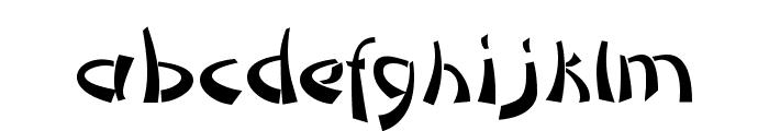 DomoAregato Normal Font LOWERCASE