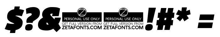 Domotika Trial Black Italic Font OTHER CHARS