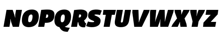 Domotika Trial Black Italic Font UPPERCASE