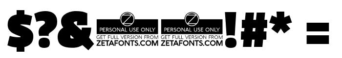 Domotika Trial Black Font OTHER CHARS